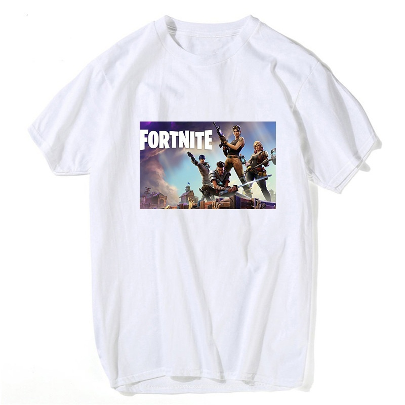 Hot Fashion Fortnite Camisetas Ropa Negro Hombres Manga Corta - Ropa de hombre