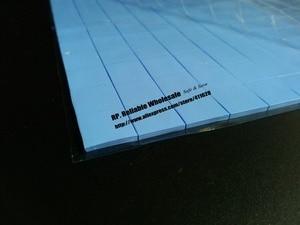 350x30*30*1.5mm 3 cm * 3 cm Macia Silicone Térmica Mat para PC Repair Chips de LED VGA GPU Dissipador de Calor Transferência de Azul