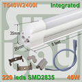30pcs/lot free shipping LED TUBE T5 integrated 8ft 2400mm 40W surface mounted with accessory for lamp to lamp Milky Clear Cover