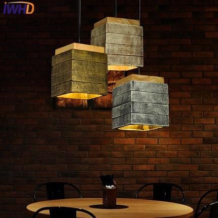 IWHD Zement Jahrgang Lampe Wohnzimmer Led Pendelleuchte Loft Stil ...
