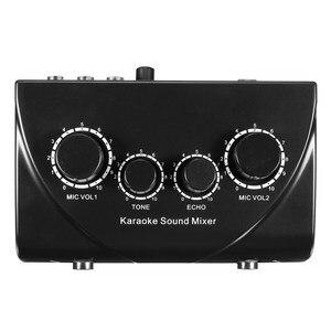 Image 2 - Профессиональный микрофон LEORY, аудиомикшер, микрофоны для караоке, усилитель звукового смешивания, двойные Микрофонные входы, предусилитель для дома KTV