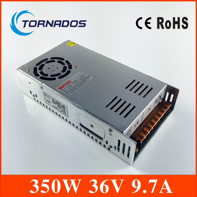 350W 36V 9.7A Single Output Switching power supply for LED Strip light AC to DC S-350-36 single output dc 36v 11a 400w switching power supply for led light strip 110v 240v ac to dc36v smps with cnc electrical equipmen