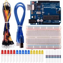 Miroad Basic Starter Kits for Arduino Robot Projects and Beginner Learner with UNO R3, Breadboard, LED Resistor and USB Cable K2