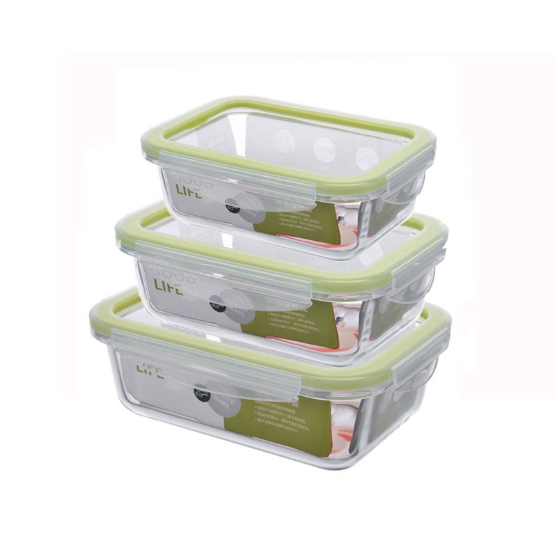 Rectangle glass food <font><b>container</b></font> Microwave heated bento meal prep <font><b>containers</b></font> Food Storage Box school Lunch box for kids image