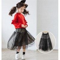 Maille patchwork coton jupes pour filles 12 année bébé grand filles vêtements autumm longue jupes pour enfants filles causal enfants vêtements