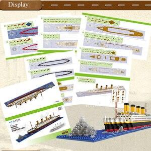 Image 5 - 1860 adet Titanic gemisi modeli elmas yapı DIY blok seti çocuk oyuncakları hediye