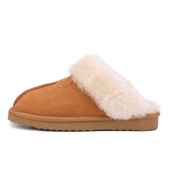 MBR FORCE Natural Fur Slippers Fashion Female Winter  Slippers Women Warm Indoor Slippers Quality Soft Wool Lady Home Shoes 2