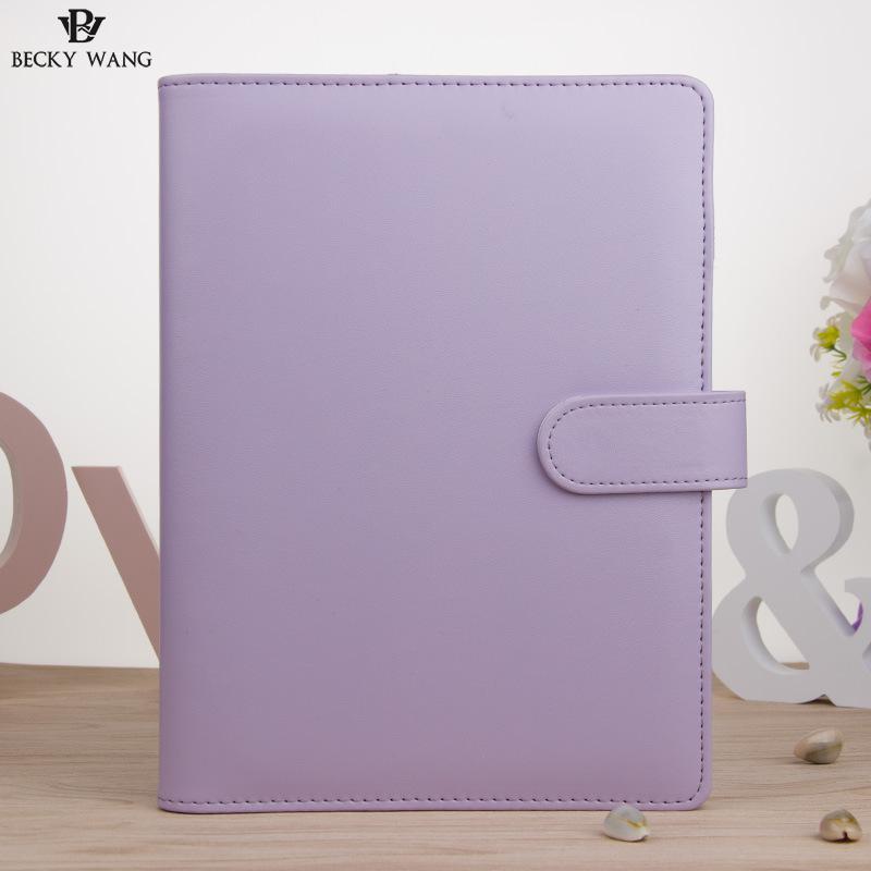 Cute Macaron Planificator Binder Numai A5 A6 Albastru roz Lilac - Blocnotesuri și registre - Fotografie 4