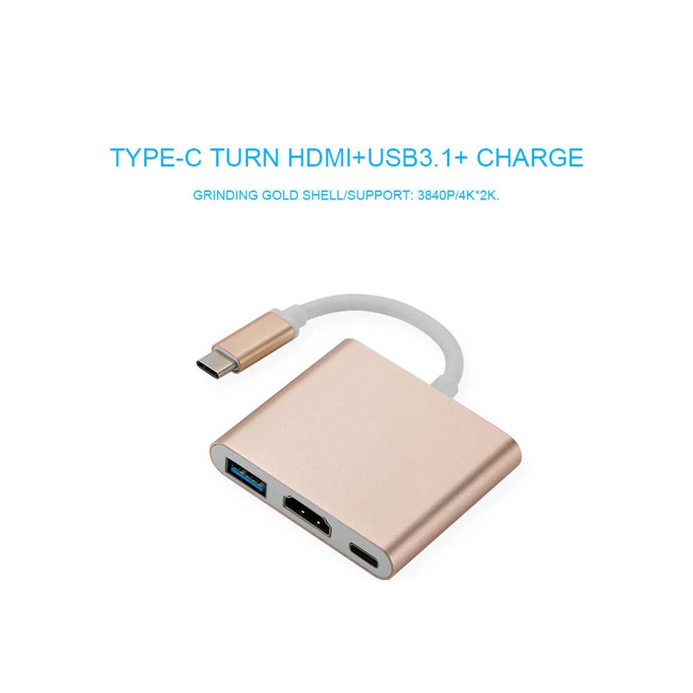 Usb c HDMI Usbc to Hdmi 3.1 Converter Adapter Typec to hdmi HDMI/USB 3.0/Type-C  Aluminum For Apple Macbook adapter