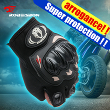 Super Quality ROBESBON Men Motorcycle Motorbike Racing font b Gloves b font Real EVA Protection Pad