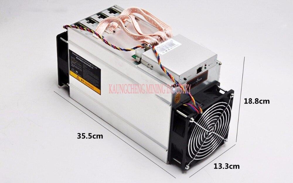 Używany stary KUANGCHENG ANTMINER L3 + + 580M (z psu) scrypt miner LTC maszyna górnicza 580M 942W na ścianie lepiej niż ANTMINER L3 +.