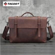 2016 new Genuine top Leather Men Bags Man Business Laptop Bag Briefcase Men Crossbody Shoulder Handbag