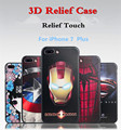 Mis colores para iphone 7 plus caso 7 plus 3d pintura alivio suave silicona contraportada iphone 7 plus con caja al por menor
