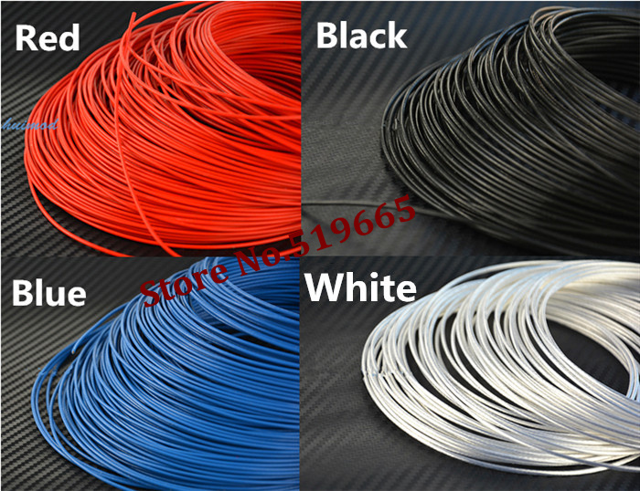 High Quality 18AWG Teflon silver wire 1m2 Silver plated copper wire for DIY Power cable line