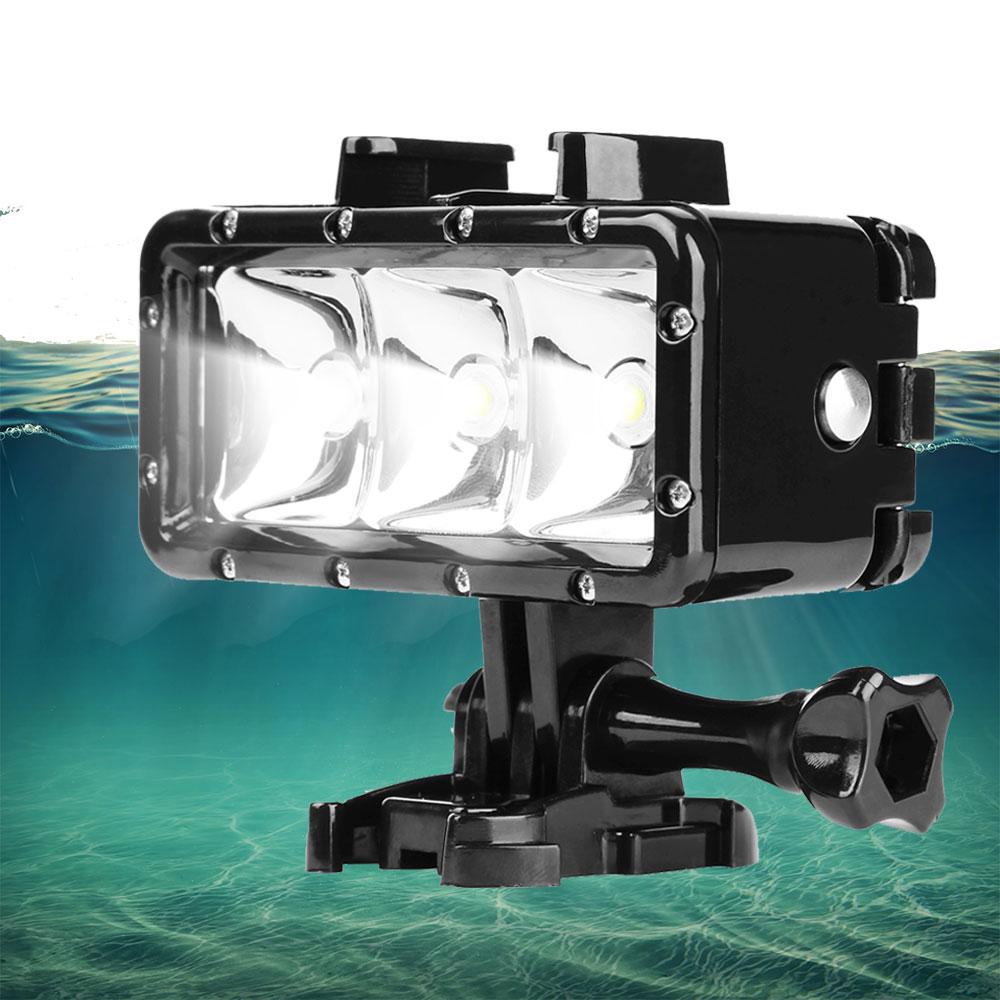 Underwater 30M Diving Light Waterproof LED Video Flash Light For Gopro Hero 5 4 3 Xiaomi