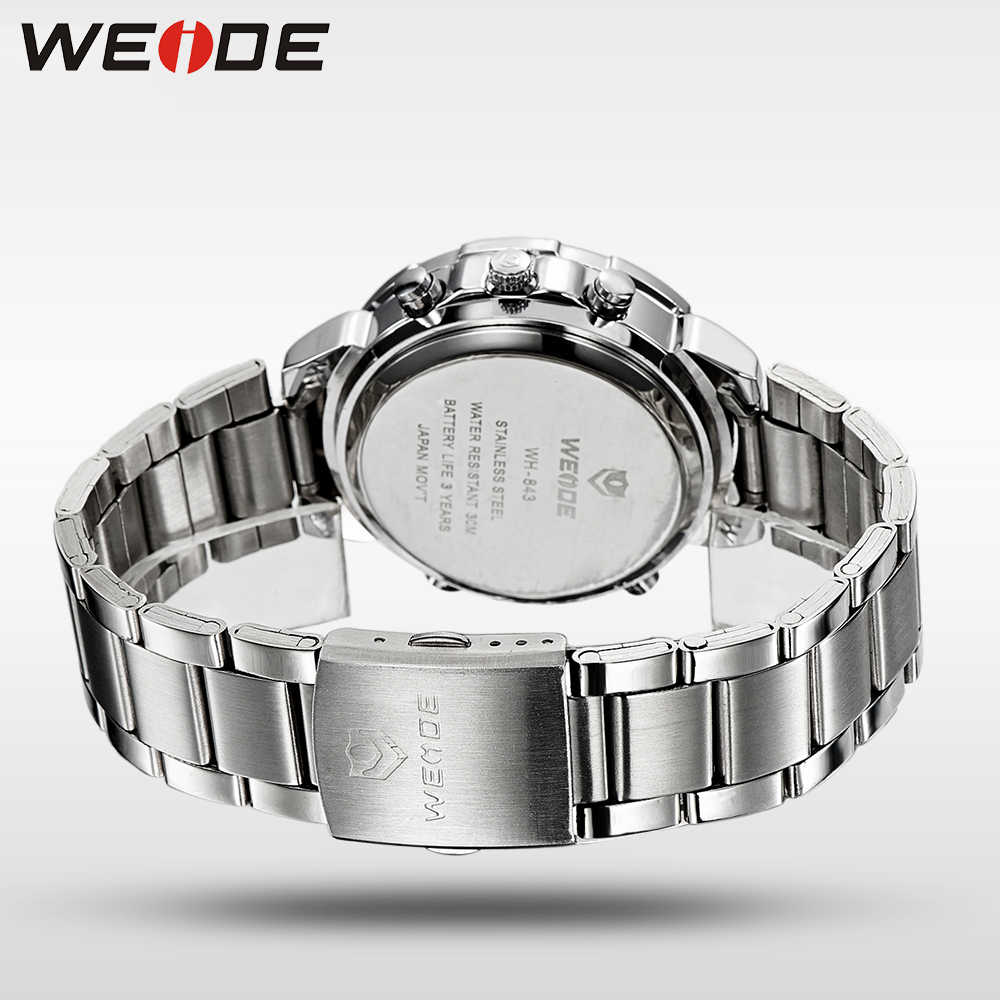 WEIDE Mens שעונים למעלה מותג יוקרה ספורט שעון גברים קוורץ יקר צבא צבאי עמיד למים Relogio Masculino LED digita שעון
