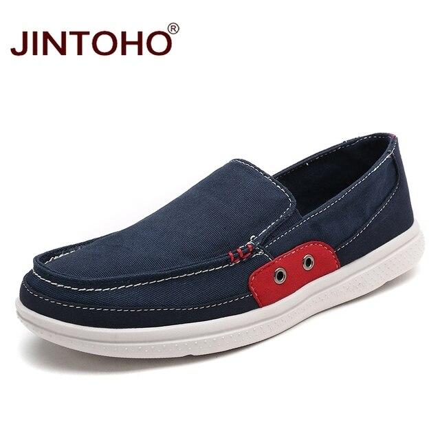 Jintoho большой размер мужчины мокасины летние дышащая мужская повседневная обувь мужской обуви моды для мужчин квартиры люксовый бренд дизайнер мужской обуви