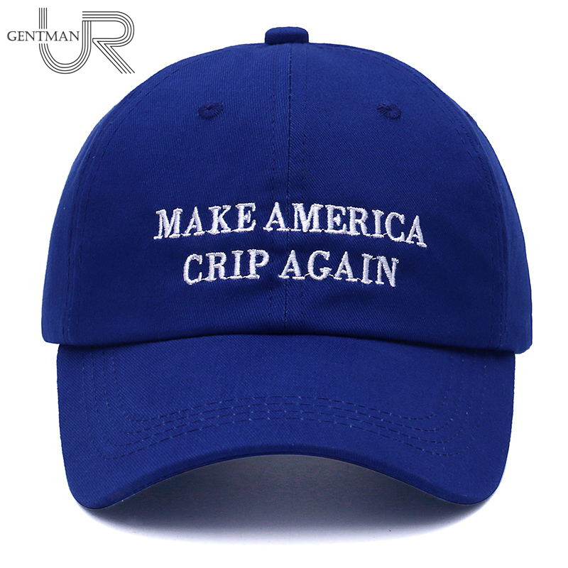 Dropshipping Letter MAKE AMERICA CRIP AGAIN Snapback   Cap   Cotton   Baseball     Cap   For Men Women Hip Hop Dad Hat Bone Garros