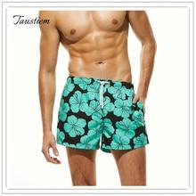 Лидер продаж Для мужчин купальники бордшорты Мужчины быстрое высыхание купальники Пляжные шорты человек с модным принтом Мужские Шорты для купания Короткие
