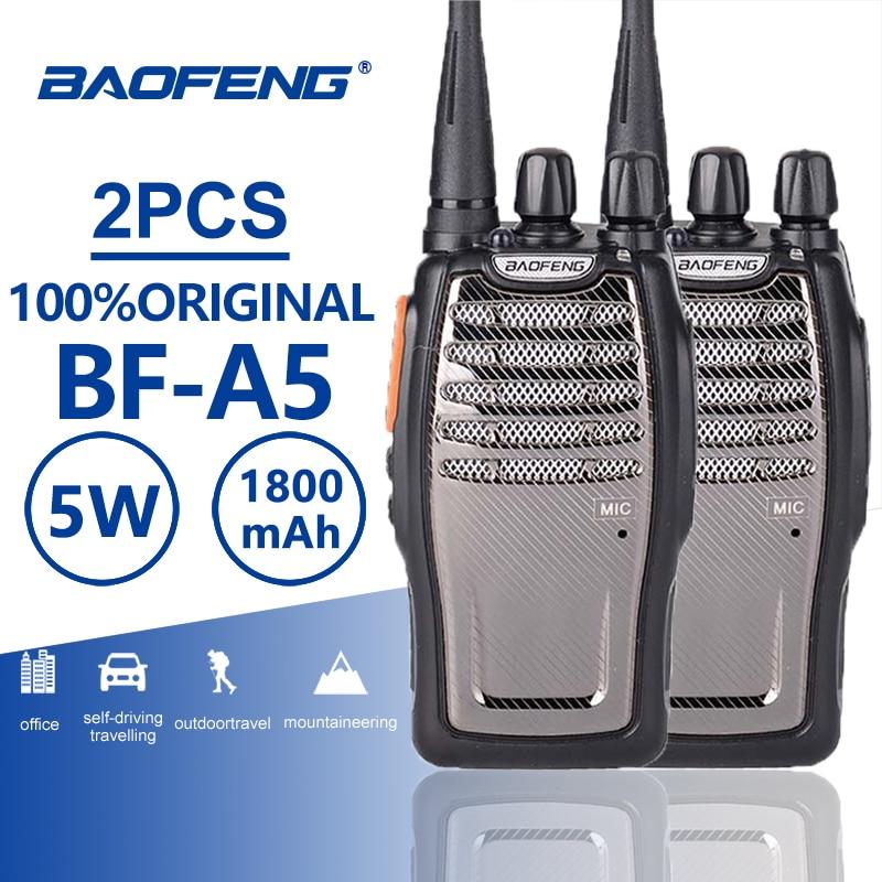 2pcs Baofeng Bf-A5 Walkie Talkie UHF Ham Radio Station A5 Portable Two Way Radio Outdoor Hunting Radio Transceiver Bf-888s Plus
