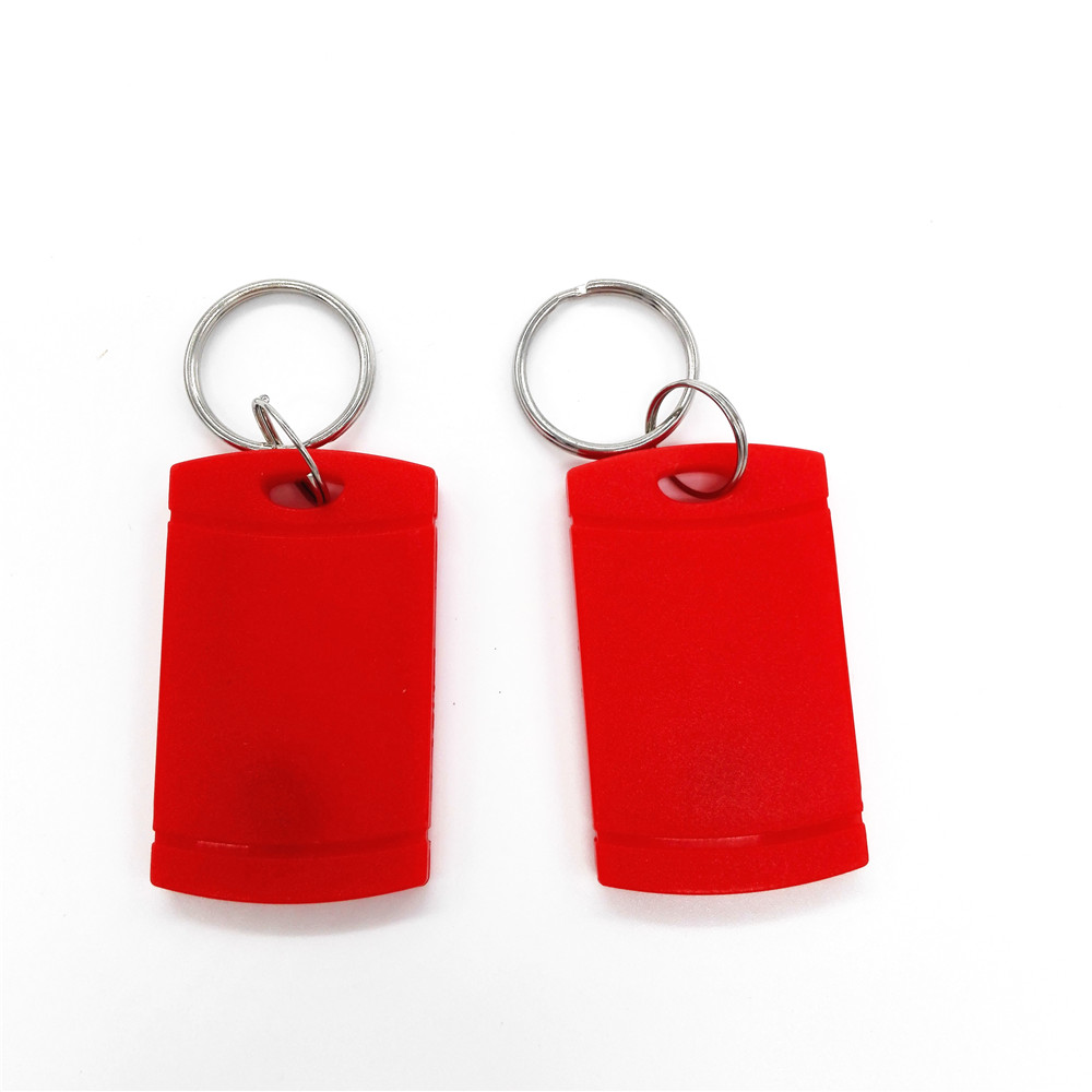 10pcs/lot Multicolor UID Blank Key Chain Elevator Parking Entrance Guard Access Control IC Card 13.56MHZ Key Tag