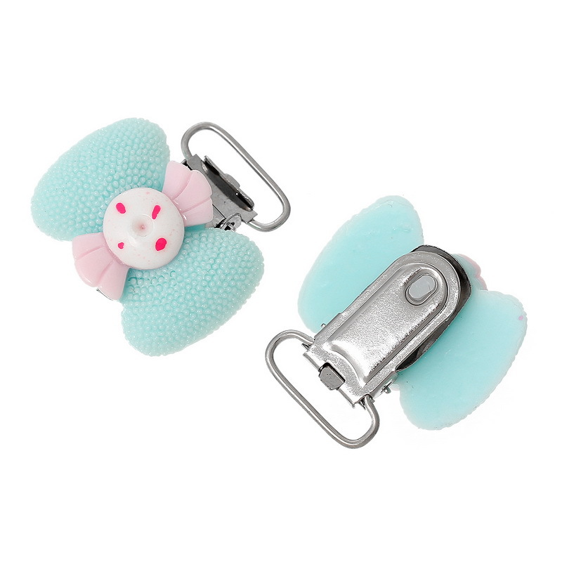 Safety Infant baby children pacifier holder clip Resin Material Clip Holder Pacifier For Kids Feeding Accessories 3.5x3.4cm P50