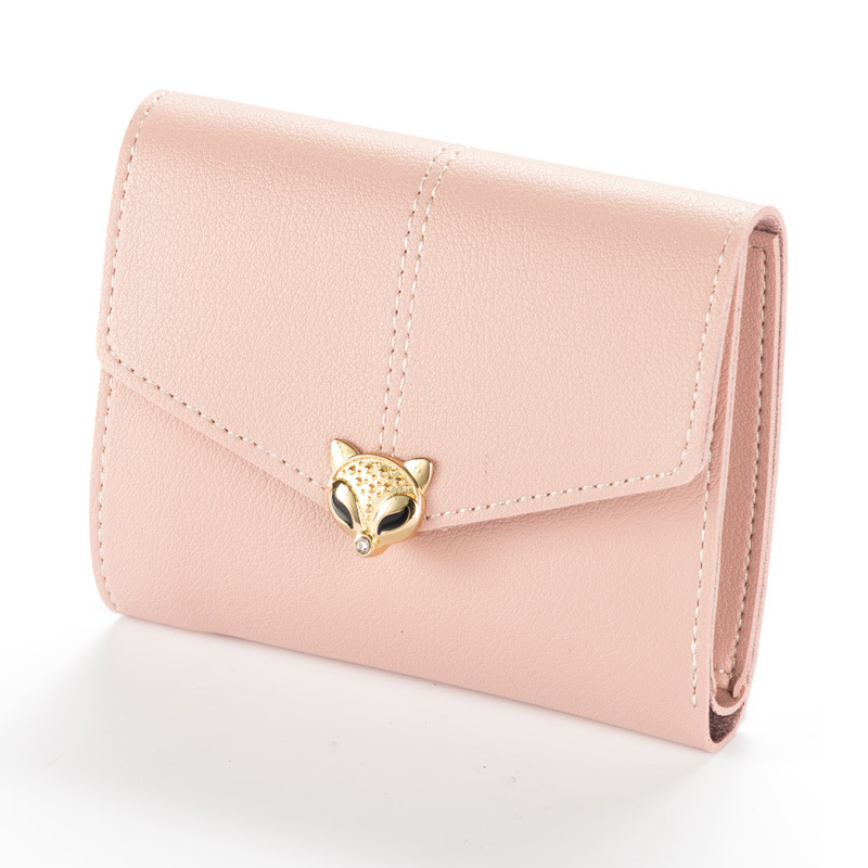 Fox Women Wallet Leather Women Purse Female Wallet Mini Purse Small Money Bag Girl Lady Trifold Clutch Coin Purse Card Holder brand passport women wallets case travel leather wallet female key coin purse wallet women card holder wristlet money bag small