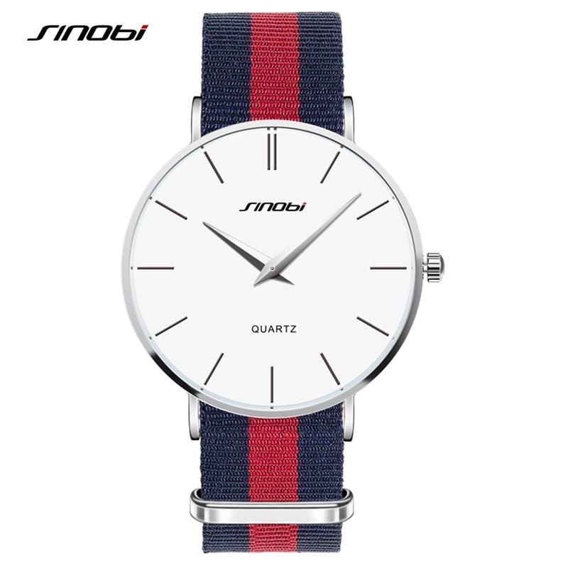 Lover's Brand SINOBI Watches Men Women Fashion Casual Sport Clock Classical Nylon Quartz Wrist Watch Relogio Masculino Feminino