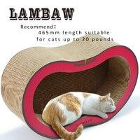 18.3 pulgadas eco-friendly corrugado sofá gato grande scratcher gato salón cama papel cartón gato rascarse PAD- l rojo