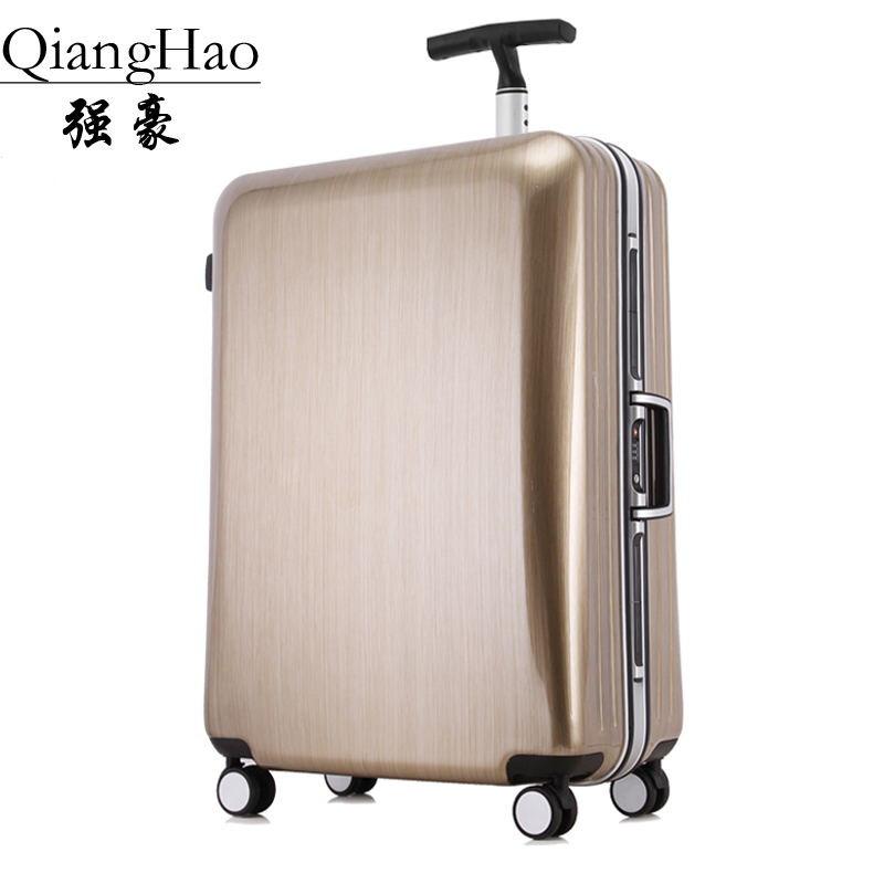 20 22 25 29 inch fashion trolley case aluminum frame Travel luggage Aluminum frame PC suitcase