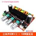 TPA3118D2 HiFi Digital Mini Amplificadores De Áudio 50Wx2 + 100 W 2.1 canais de alta potência ceia bass treble controle do carro em casa