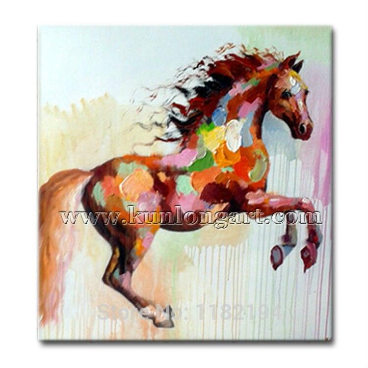 Envío gratis Unframe pintado a mano moderno del arte Pop caballo ...