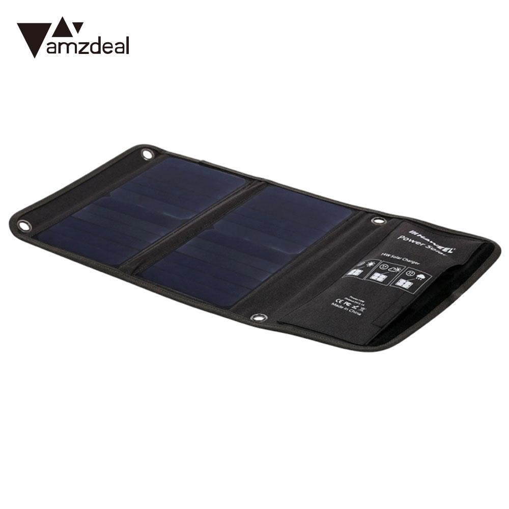 Solar Generator Phone Charger 14w Durable Folding Solar Panel Travel Outdoor Monocrystalline Silicon Fast Charger