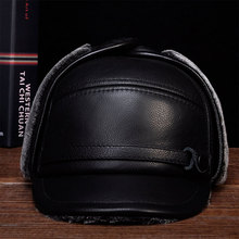 HL132 2018 Mens genuine leather baseball cap hat brand new style Spring cow