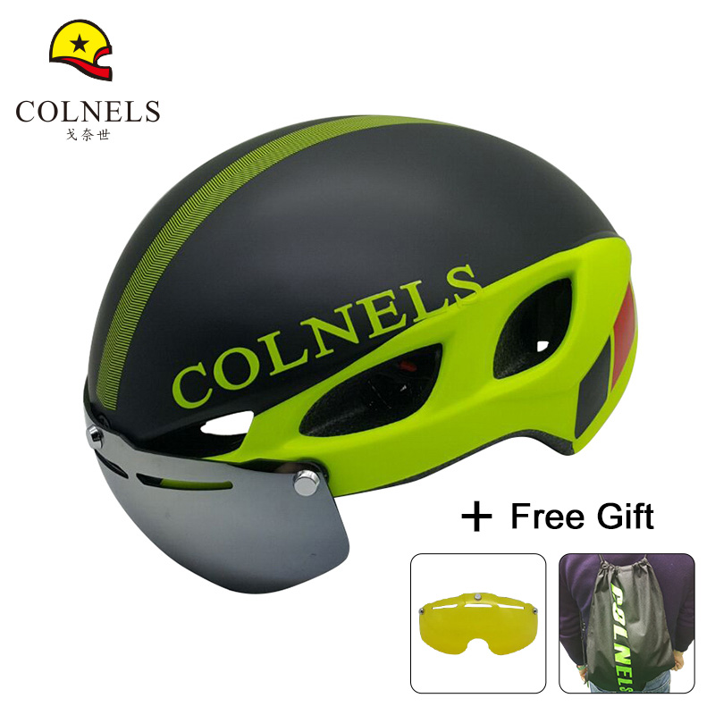 COLNELS Bicycle Helmet Mountain Bike Helmet Ultralight Integrally-molded Factory sales C-580 Adult Matte goggles Cycling Helmet