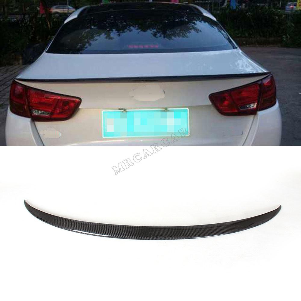 Carbon Fiber Rear Trunk Boot Spoiler Wing For KIA K5 Optima 2013-2015 Facelift Black Auto Car Rear Wings Car Styling mercedes w207 replacement amg style spoiler for benz e class w207 2010 tail rear trunk spoiler wing carbon fiber car styling