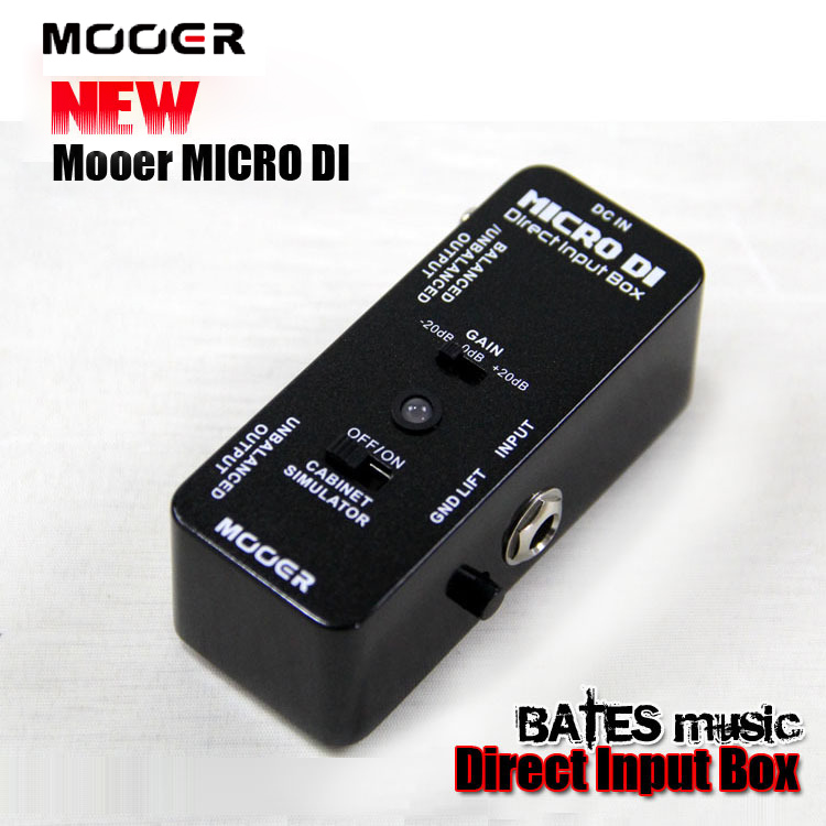 NEW Effect Pedal/MOOER MICRO DI/Direct Input Box mooer ultra low distortion micro di direct input box effect pedal true bypass guitarra accessory