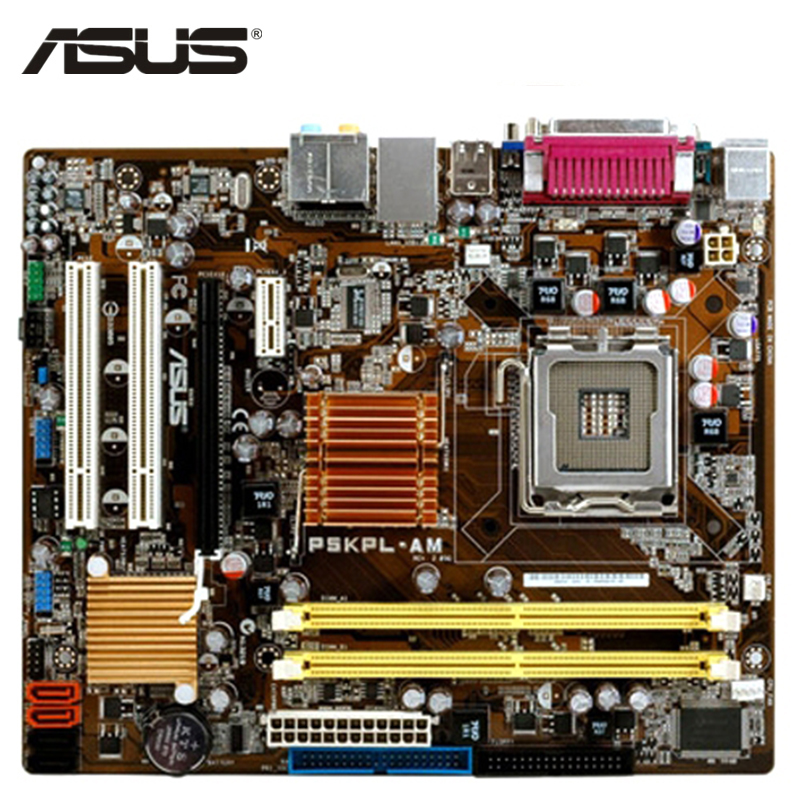 ASUS P5KPL-AM Motherboard LGA 775 DDR2 4GB For Intel G31 P5KPL-AM Desktop Mainboard Systemboard SATA II Used Integrated Graphics original motherboard for asus p5kpl am se ddr2 lga 775 for core pentium celeron 4gb g31 desktop motherboard free shipping
