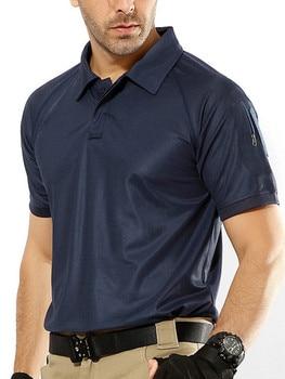 1c9cc1f74af Product Offer. Для мужчин быстросохнущая летние военные рубашка-поло  дышащая милитари