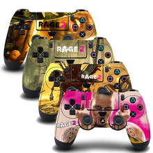 4PCS/Set PS4 Controller Skin Sticker Vinly Decal Cover for Sony PlayStation 4 DualShock Wireless Gamepad -Rage 2(China)