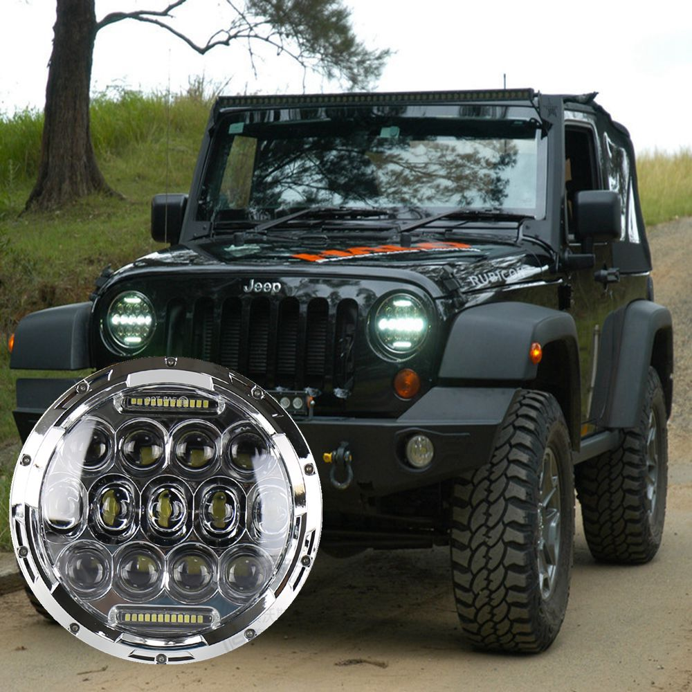7inch Round 75W Auto led headlight Car driving light 12/24V led wrangler headlamps with DRL for Jeep jk Off road car LED 7inch for jeep led headlight 5x7 headlight type led driving light 24v car led headlights 7x6 led headlamp light 5 7inch h4 h l