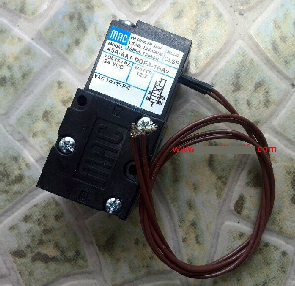 New and original America MAC solenoid valve 45A-AA1-DDFA-1BA DC24V brand new original american mac high frequency electromagnetic valve 45a sa1 daca 1ba