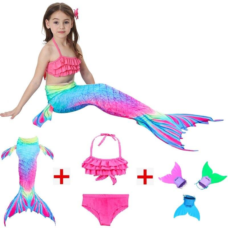 Mother & Kids Kids Mermaid Swimsuit Bikini Girls Mermaid Tail With Fin Swimsuit Children Wear Split Swimsuit Mermaid Tail Clothing Swimwear