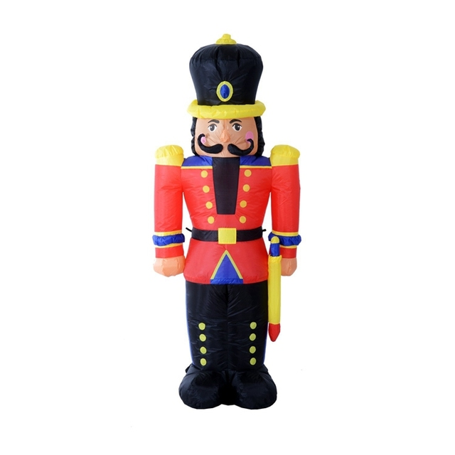 Outdoor Toy Soldier Christmas Decorations.Us 49 99 6 Nutcracker Toy Soldier Led Lighted Outdoor Air Blown Inflatable Christmas Yard Decoration In Party Diy Decorations From Home Garden On