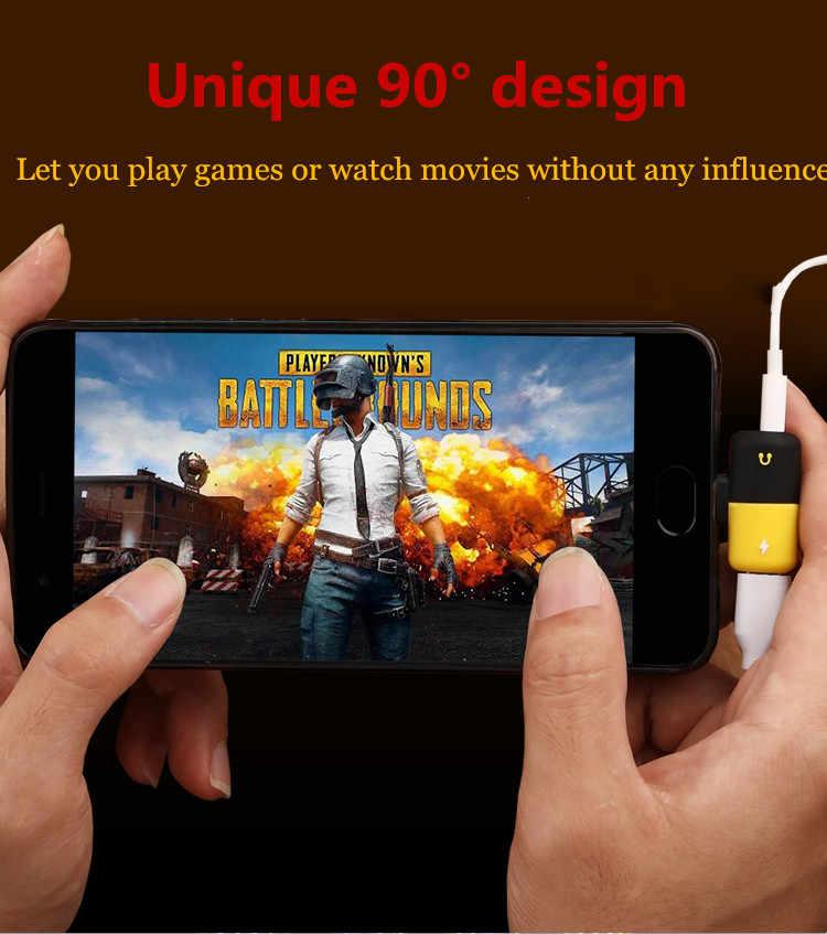 Cherie Dual AUX Typec 3.5 Mm Headphone Jack Audio Adapter untuk Xiaomi Samsung Huawei USB LG Call Musik splitter Converter