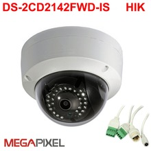 Hik 4mp WDR DS-2CD2142FWD-IS,POE Audio 4Mp CCTV camera Fixed IR Dome,3DNR  IP66,security camera,Pure English version стоимость