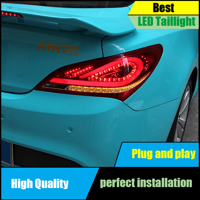 Car Styling for Hyundai Rohens Coupe Tail Lights 2009 2012 Genesis Coupe LED Taillight Rear Lamp DRL+Brake+Park+Signal