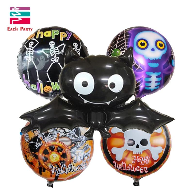 5pcslot halloween balloons lagre bat foil balloons halloween decorations helium balloon classic toys balls event party supplies