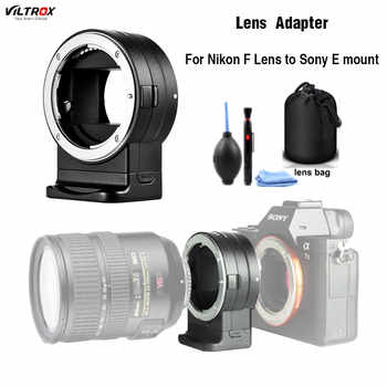 Viltrox NF-E1 AF Auto Focus EXIF Signal Lens Adapter Ring Tube For Nikon F lens to Sony E mount A9 A7III A6500 A6000 DSLR Camera - DISCOUNT ITEM  20 OFF Consumer Electronics