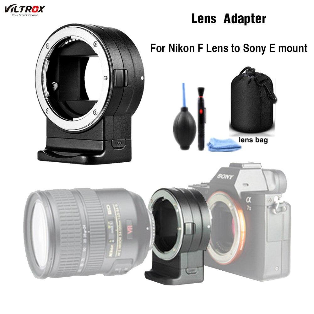 Viltrox NF-E1 AF Auto Focus EXIF Signal adaptateur adaptateur anneau Tube pour Nikon F objectif à Sony E monture A9 A7III A6500 A6000 DSLR appareil photo